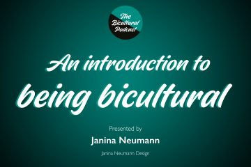 The Bicultural Podcast logo, text 'An introduction to being bicultural'
