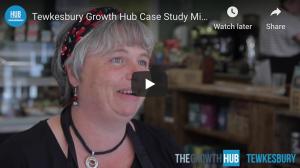 Screenshot of Tewkesbury Growth Hub's Video showing Nicola Veal