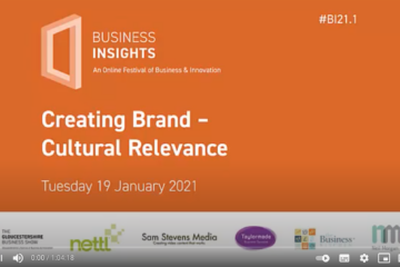 Webinar title page, text 'Creating Brand Cultural Relevance'