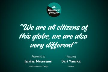 """The Bicultural Podcast logo, """"We are all citizens of this globe, we are also very different"""""""