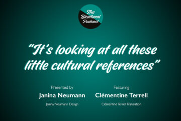 """The Bicultural Podcast logo, """"It's looking at all these little cultural references"""""""