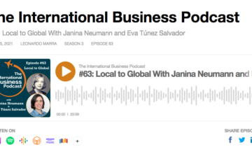 Screenshot of the episode on The International Business Podcast